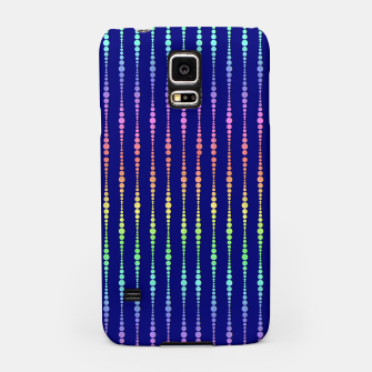 Thumbnail image of Mod Rainbow Bead Strings on Blue Samsung Case, Live Heroes