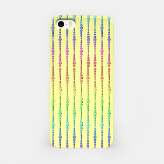 Thumbnail image of Mod Rainbow Bead Strings on Yellow iPhone Case, Live Heroes