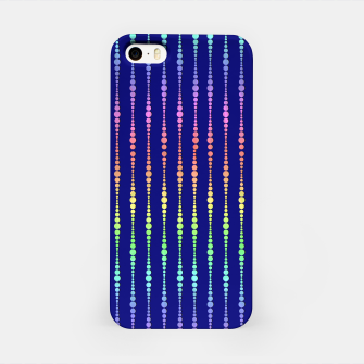 Thumbnail image of Mod Rainbow Bead Strings on Blue iPhone Case, Live Heroes