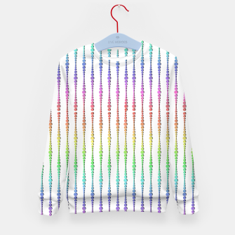 Thumbnail image of Mod Rainbow Bead Strings  Kid's sweater, Live Heroes