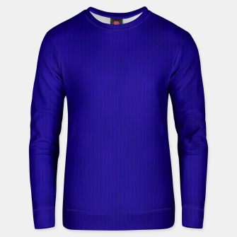 Textured Navy Blue Lines Unisex sweater thumbnail image