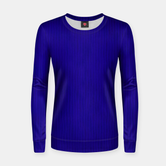 Textured Navy Blue Lines Women sweater thumbnail image