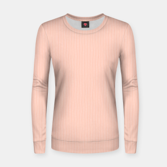 Textured Peach Lines Women sweater thumbnail image