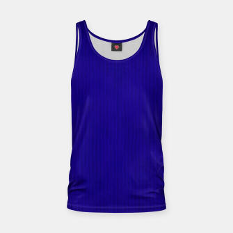 Textured Navy Blue Lines Tank Top thumbnail image
