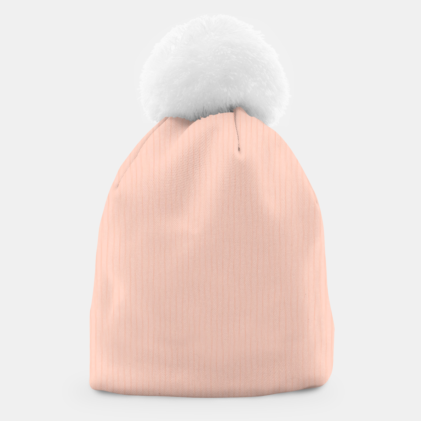 Image of Textured Peach Lines Beanie - Live Heroes