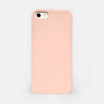 Textured Peach Lines iPhone Case thumbnail image
