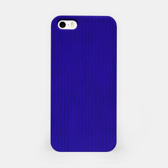 Textured Navy Blue Lines iPhone Case thumbnail image