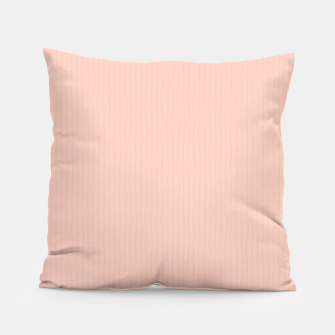 Textured Peach Lines Pillow thumbnail image