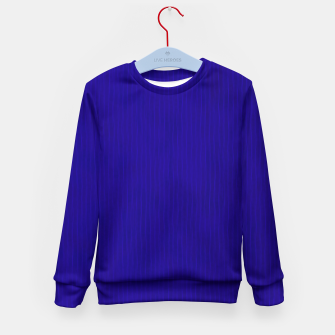 Textured Navy Blue Lines Kid's sweater thumbnail image