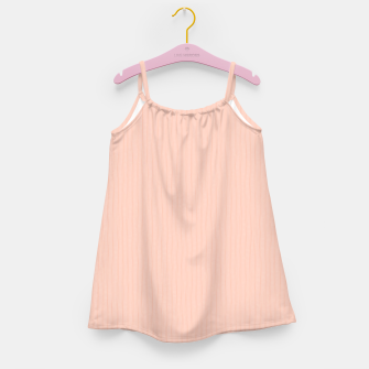 Textured Peach Lines Girl's dress thumbnail image