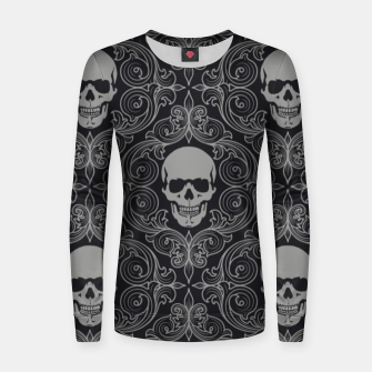 Thumbnail image of skull Women sweater, Live Heroes