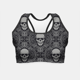 Thumbnail image of skull Crop Top, Live Heroes
