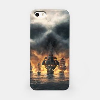 Thumbnail image of skull and bones iPhone Case, Live Heroes