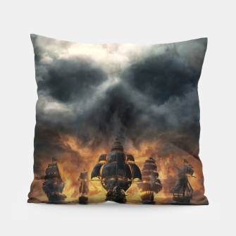 Thumbnail image of skull and bones Pillow, Live Heroes
