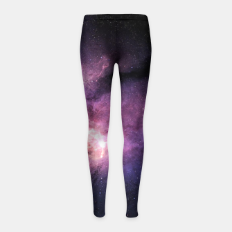 Thumbnail image of space 3 Girl's leggings, Live Heroes