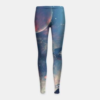 Thumbnail image of spaceships Girl's leggings, Live Heroes