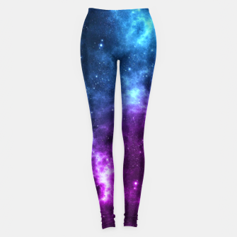 Thumbnail image of moon and space Leggings, Live Heroes