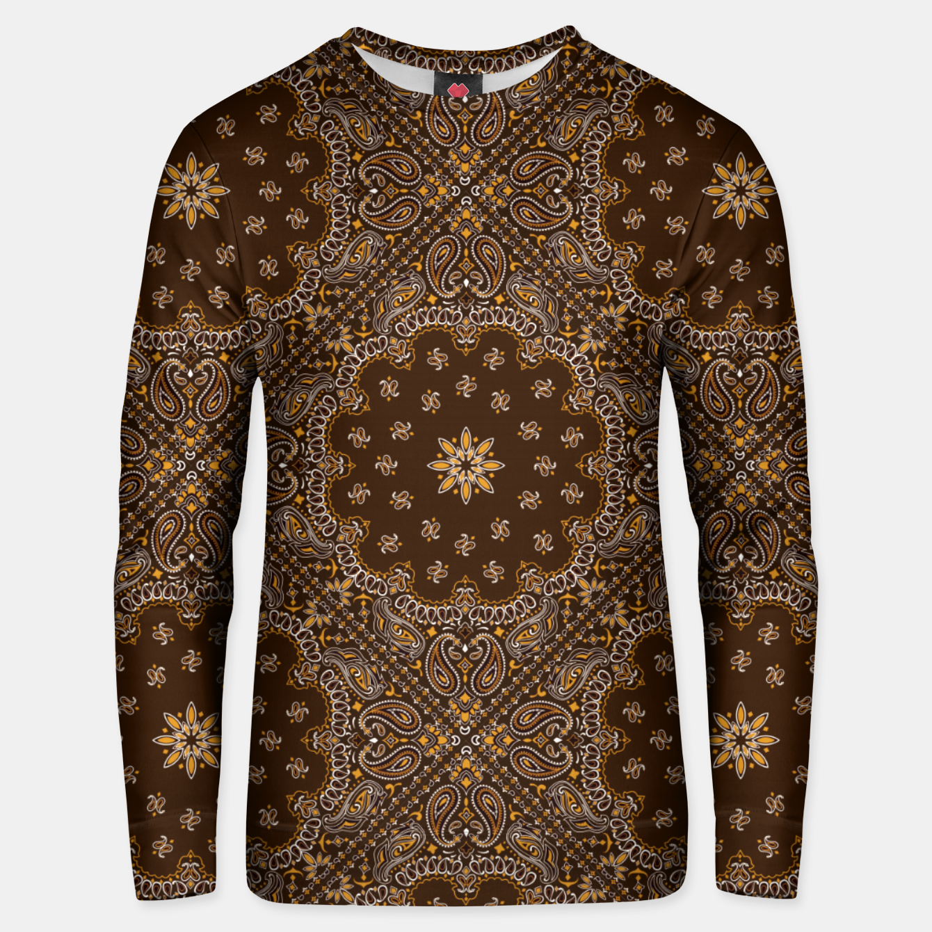 Image of Brown Bandanna Squares Unisex sweater - Live Heroes