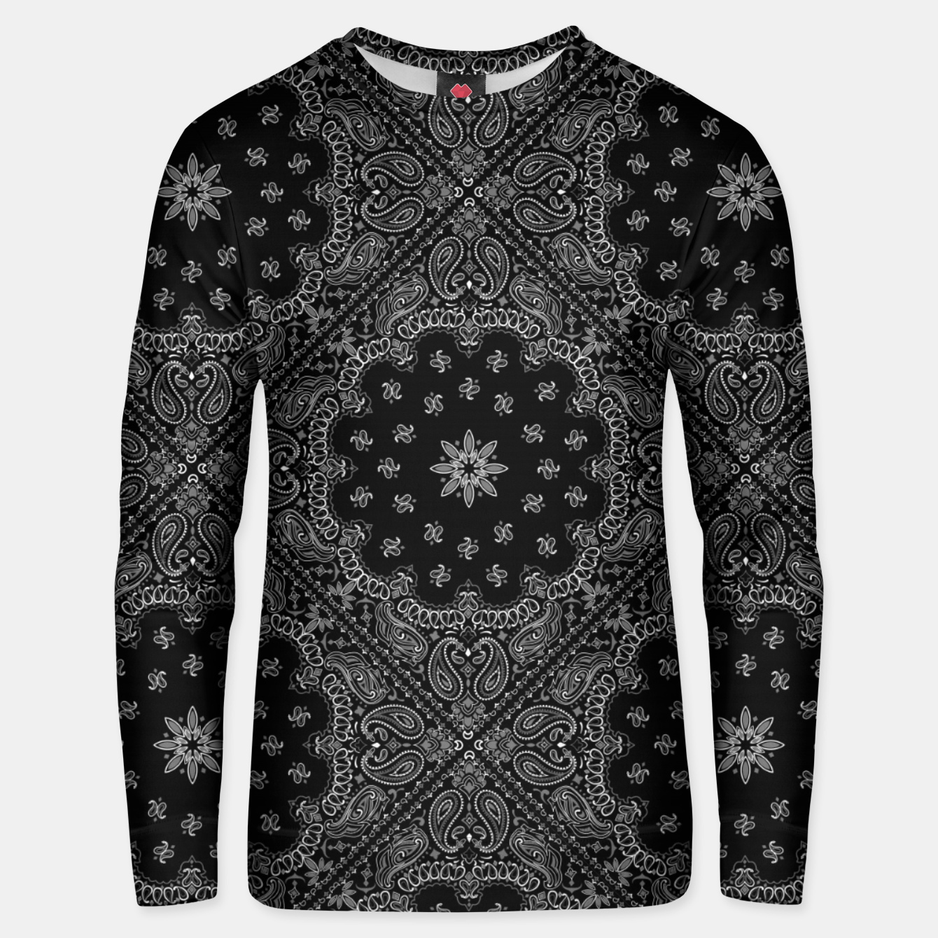 Image of Black and White Bandanna Squares Unisex sweater - Live Heroes