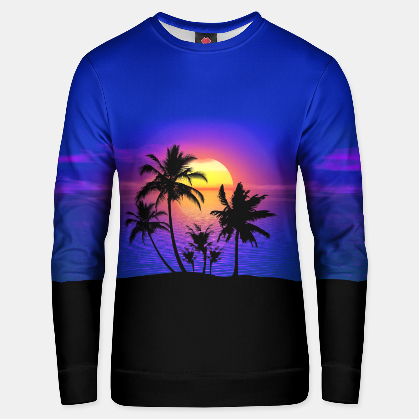 Image of Tropical Island Sunset Unisex sweater - Live Heroes