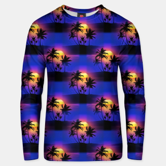 Tropical Island Sunset Unisex sweater thumbnail image