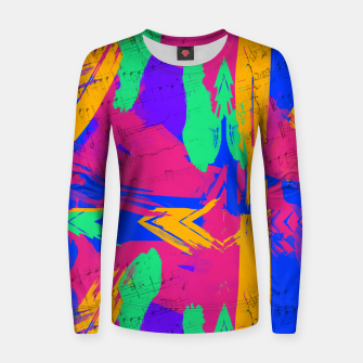 Paint Brush Strokes Women sweater thumbnail image