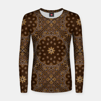 Brown Bandanna Squares Women sweater thumbnail image