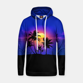 Tropical Island Sunset Hoodie thumbnail image