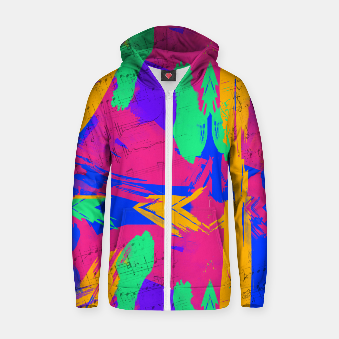Image of Paint Brush Strokes Zip up hoodie - Live Heroes