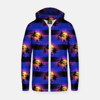 Tropical Island Sunset Zip up hoodie thumbnail image