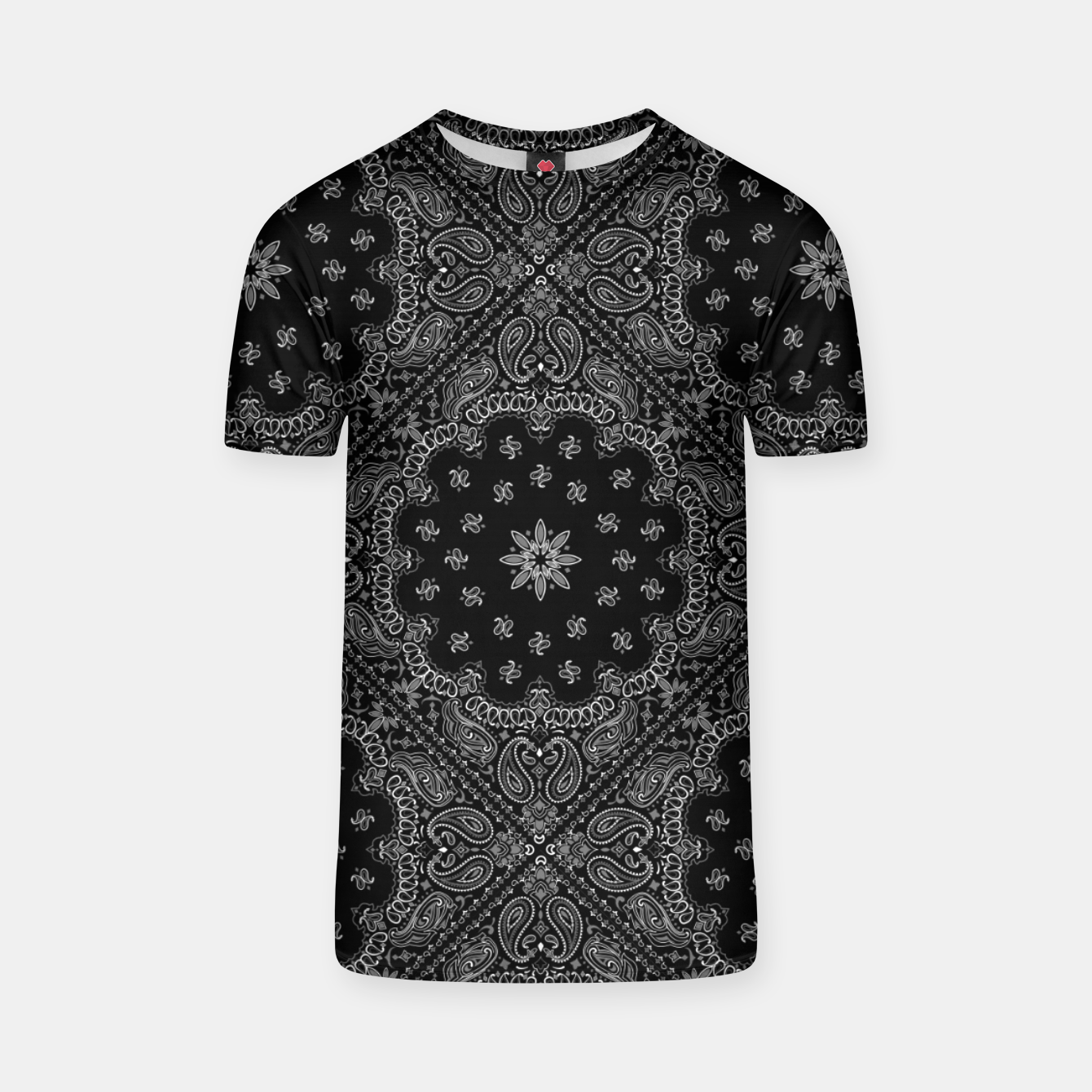 Image of Black and White Bandanna Squares T-shirt - Live Heroes