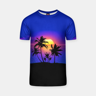 Tropical Island Sunset T-shirt thumbnail image