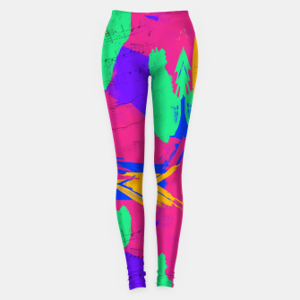 Paint Brush Strokes Leggings thumbnail image