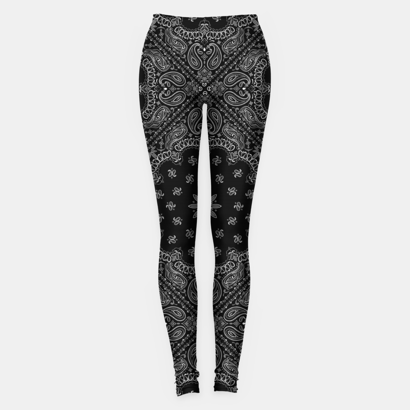 Image of Black and White Bandanna Squares Leggings - Live Heroes