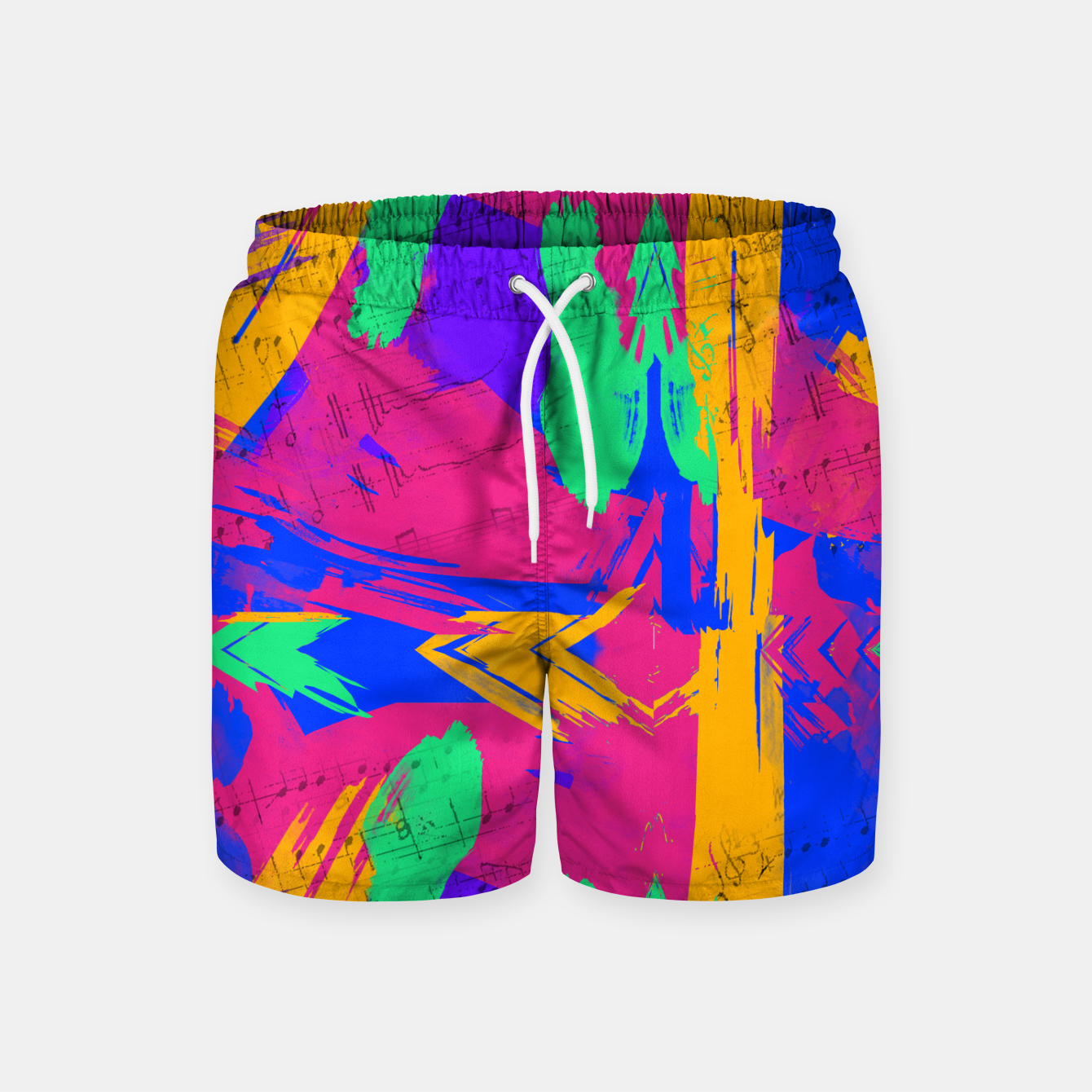Image of Paint Brush Strokes Swim Shorts - Live Heroes