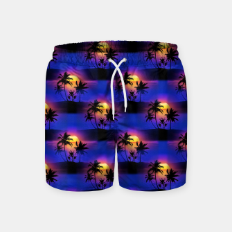 Tropical Island Sunset Swim Shorts thumbnail image