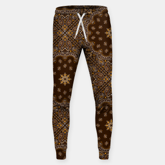 Brown Bandanna Squares Sweatpants thumbnail image
