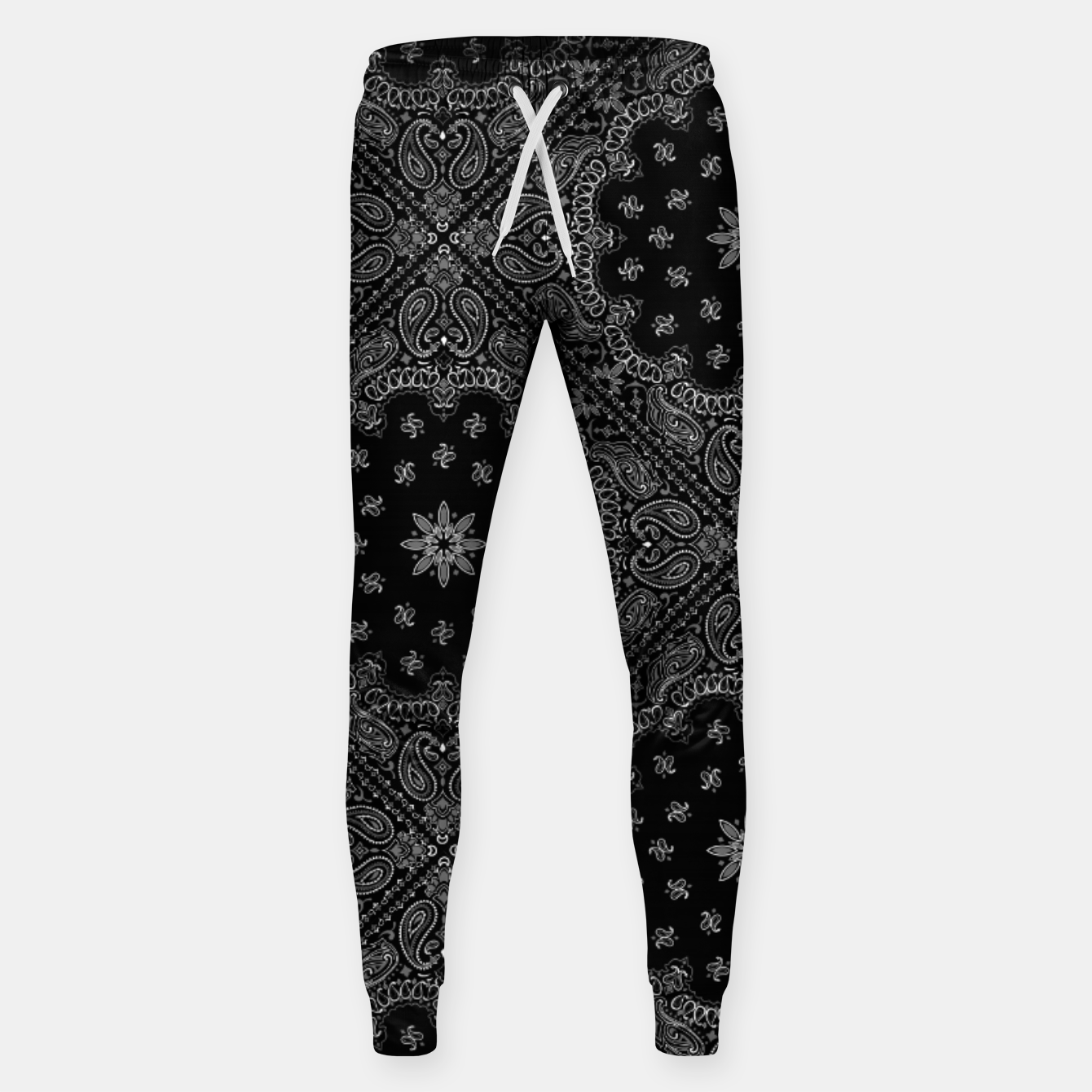 Image of Black and White Bandanna Squares Sweatpants - Live Heroes