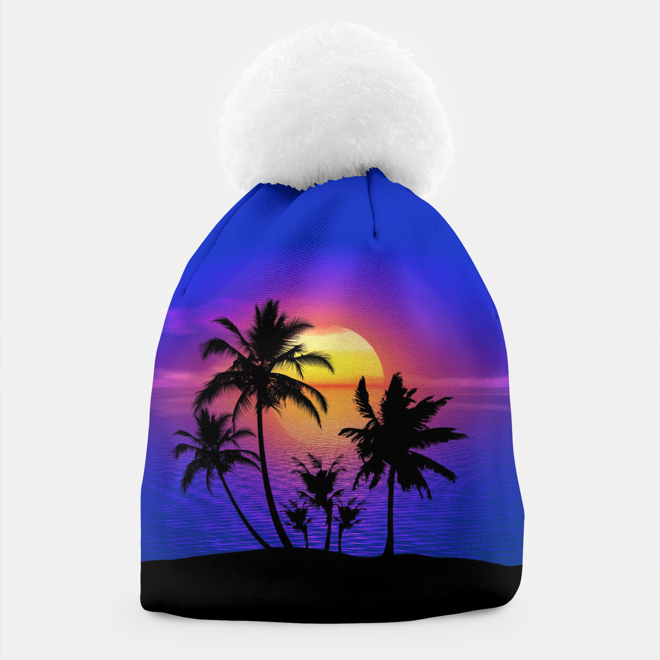 Image of Tropical Island Sunset Beanie - Live Heroes