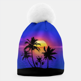 Tropical Island Sunset Beanie thumbnail image