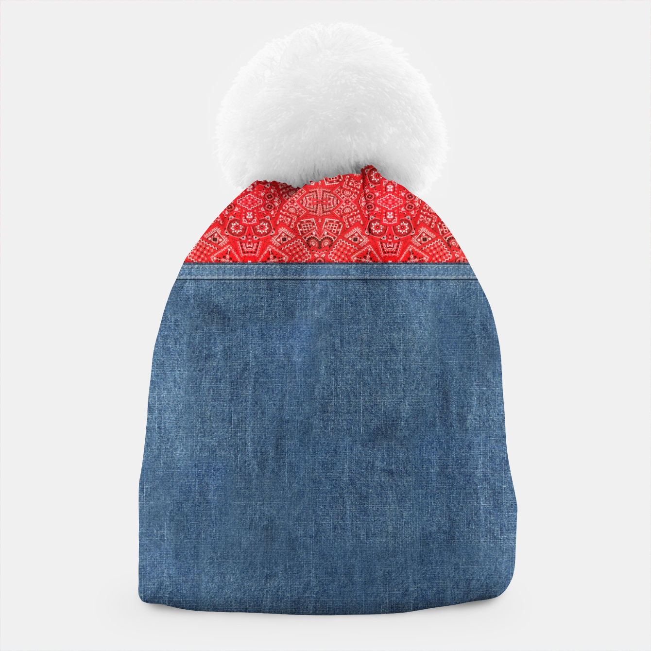 Image of Denim Look and Bandanna Beanie - Live Heroes