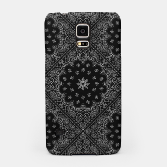 Black and White Bandanna Squares Samsung Case thumbnail image