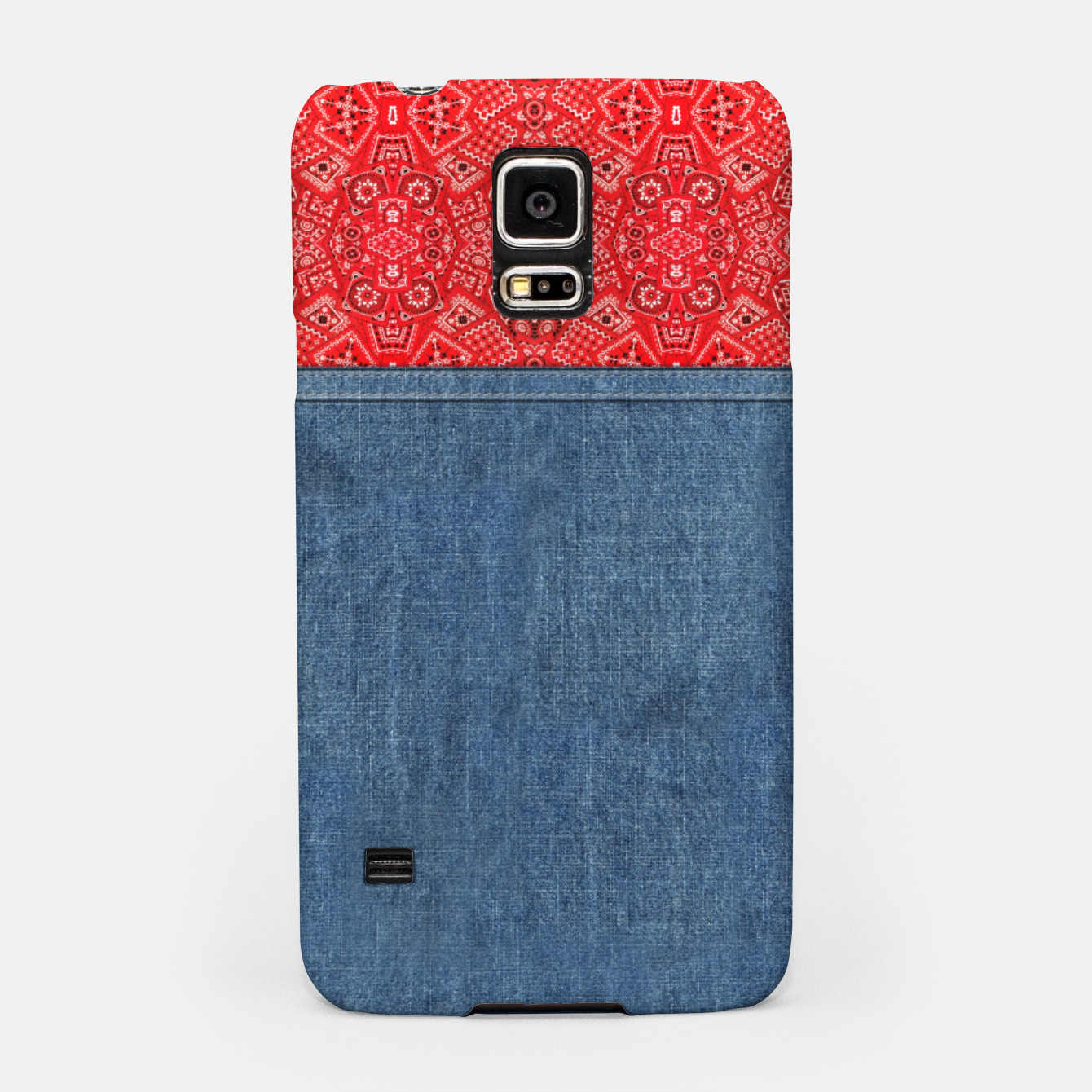 Image of Denim Look and Bandanna Samsung Case - Live Heroes