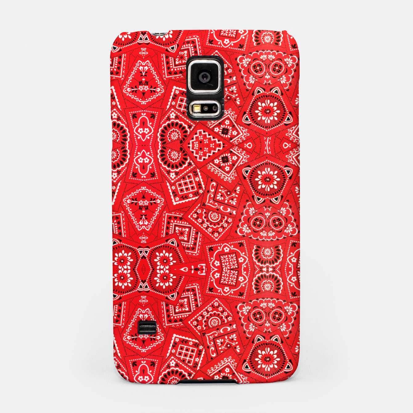Image of Red Bandanna Squares  Samsung Case - Live Heroes