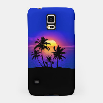Tropical Island Sunset Samsung Case thumbnail image