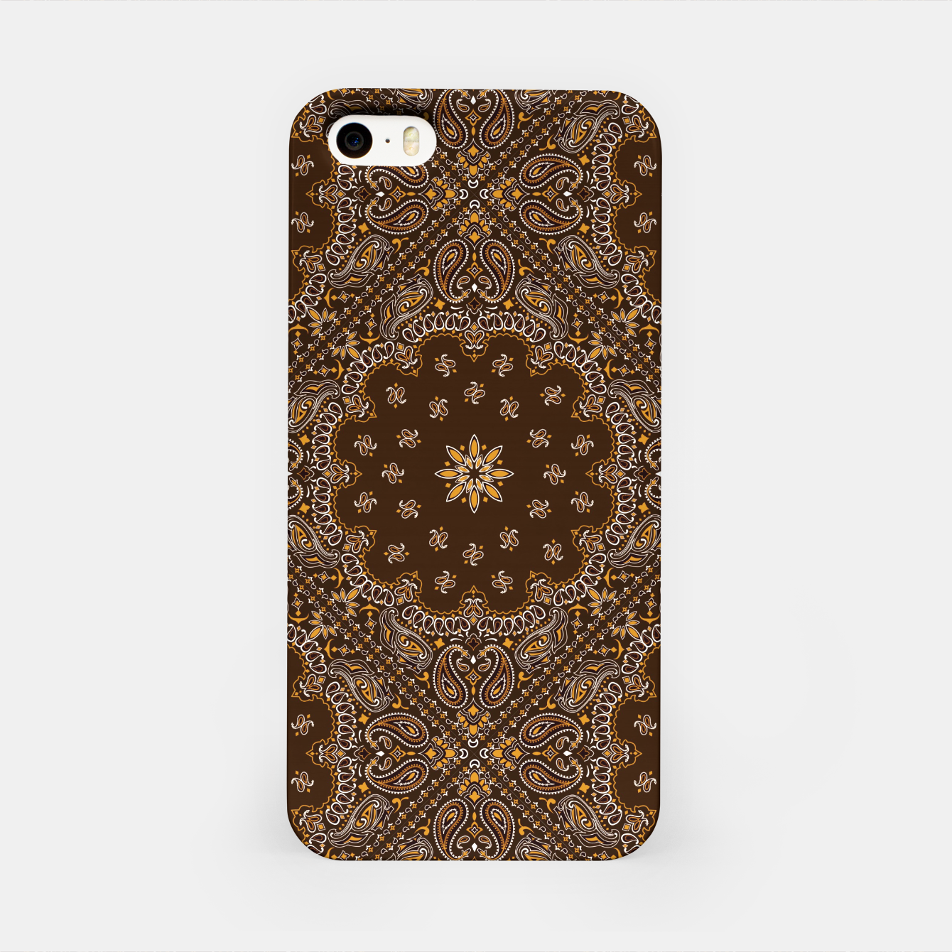 Image of Brown Bandanna Squares iPhone Case - Live Heroes