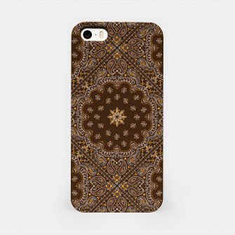 Brown Bandanna Squares iPhone Case thumbnail image