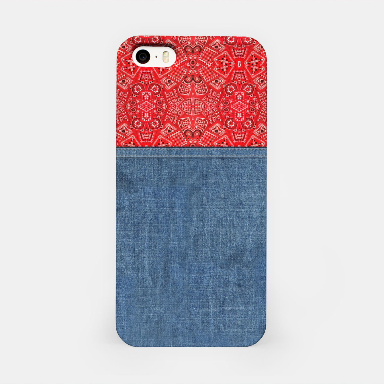 Image of Denim Look and Bandanna iPhone Case - Live Heroes