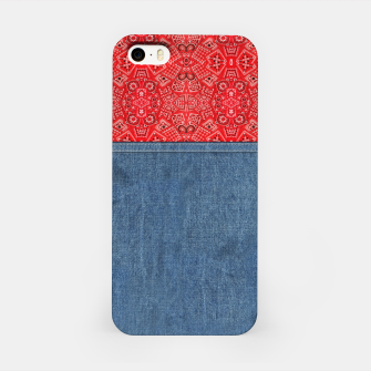 Denim Look and Bandanna iPhone Case thumbnail image