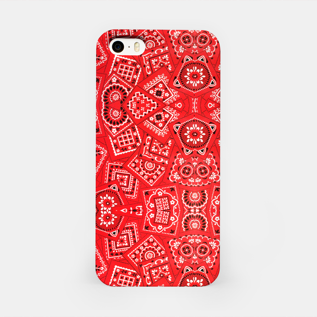 Image of Red Bandanna Squares  iPhone Case - Live Heroes
